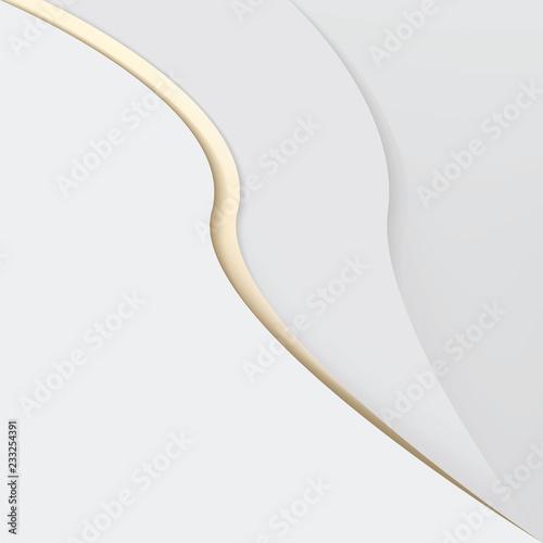 Minimal Elegant White Paper Texture With Golden Wavy Stroke Buy