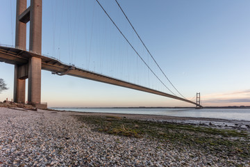 the humber suspension bridge from the north shore © Paul burzynski