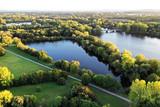 Drohnenaufnahme Seen große Teiche aus der Luft - 233258368