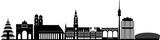 München skyline detailliert // Vektor