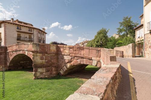 Romanesque bridge of Molina de Aragón, Guadalajara, Spain