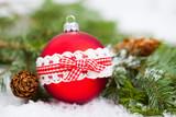 Red Christmas balls - 233277520