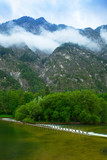 Scenery at Grundlsee lake in Alps mountains, Austria - 233280362