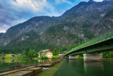 Scenery at Grundlsee lake in Alps mountains, Austria - 233280395