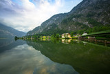 Scenery at Grundlsee lake in Alps mountains, Austria - 233282184