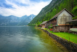 Scenery at Grundlsee lake in Alps mountains, Austria - 233282300
