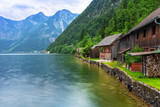 Scenery at Grundlsee lake in Alps mountains, Austria - 233282344