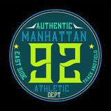 manhattan athletic,t-shirt design - 233293726