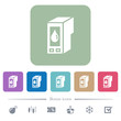 Ink cartridge flat icons on color rounded square backgrounds