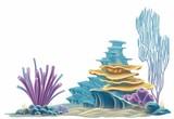 corals on white background - 233311349