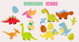 Cartoon dinosaurs pack © pongsakon