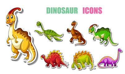 Cartoon dinosaurs pack © pongsakon