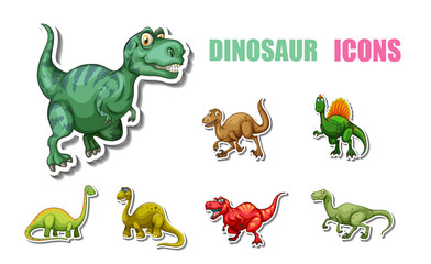 Cartoon dinosaurs pack