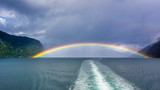 Rainbow over the bay of Sognefjord, Norway © ig130655