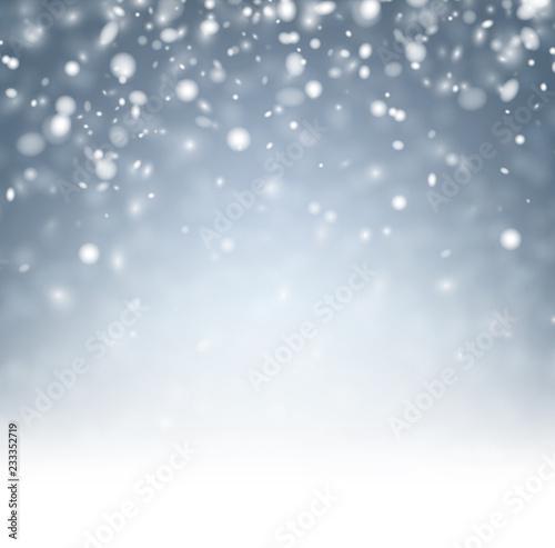 Siwieję zamazywał abstrakcjonistycznego zimy tło z śniegiem.