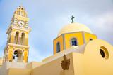 Traditional Dome Church in Thira or Fira, Santorini Island, Greece - 233358572