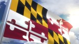 Waving flag of the state of Maryland USA - 233360790
