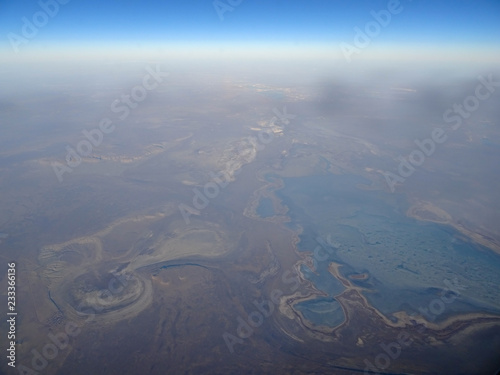 Aral Sea region from above - 233366136