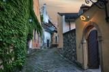 Narrow street in old town. Szentendre, Hungary