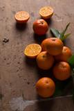 clementine con sfondo legno