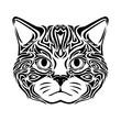 cat head tribal art