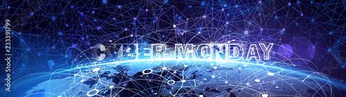 Cyber Monday Online Sale Event. Vector Technology illustration