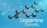 Three-dimensional molecular model of Dopamine - 3d render