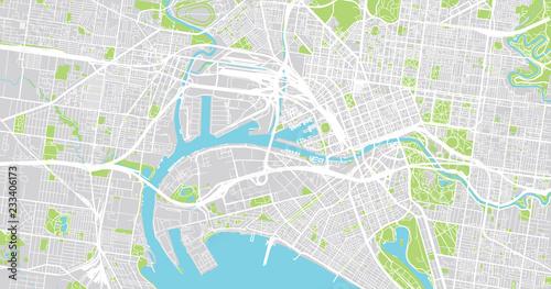 Melbourne Australia City Map.Urban Vector City Map Of Melbourne Australia Buy Photos Ap