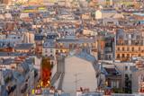 Paris. Aerial view of the city at sunrise. - 233413172