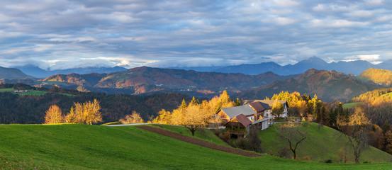 Sveti Tomaz is a small settlement in the Municipality of Skofja Loka in the Upper Carniola region of Slovenia © elena_suvorova
