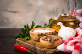 Ingredients for cooking on wooden background. - 233449181