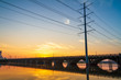Powerline and bridge