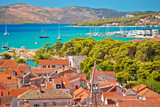 Trogir old city rooftops and turquoise archipelago view - 233462136