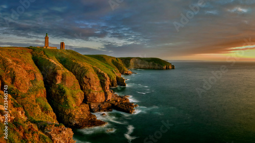 Foto Murales Lighthouse in the Cap Frehel, Brittany, France - panorama