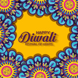 diwali flowers hindu mandalas background