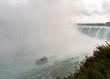 Niagara Falls: Horseshoe falls wth tour boat and mist