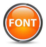 Font galaxy orange round button - 233479373