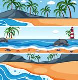 Summer sea landscape template - 233487702