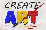 create art design on wood grain texture - 233487902