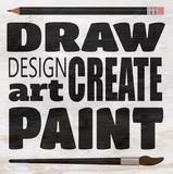 draw paint create design on wood grain texture - 233487929