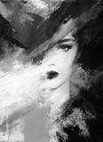 beautiful woman. fashion illustration. watercolor painting - 233491988
