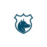 Dog logo vector icon. K9 police dog logo icon vector. K9 academy logo design.