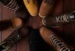Leinwanddruck Bild - 7526756 Circle of group shoes