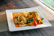 Spicy stir-fried Squid with pepper and chili - 233507177