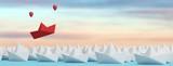 Erfolg und Innovation Konzept Header mit Boot