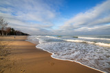 Baltic Sea beach in stormy weather, Poland - 233512734
