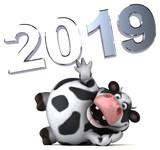 Fun cow - 3D Illustration - 233522595