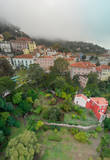Aerial view of Sintra at sunset, Portugal - 233541146