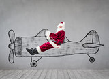Santa Claus travel by air © Sunny studio