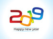 abstract artistic creative new year text